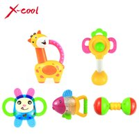 Wholesale xc8853 baby bell bottle rattles baby toys year old newborn teethers baby hand rattles
