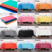 Wholesale Hot Sales Colorful Rectangle PVC Plastic Replaceable Tablecloth Table Cover CM For Picnic Dinner Party etc JN4