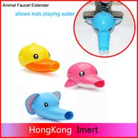 Wholesale Hot Elephant Duck Dophin Faucet Extender for Toddlers Kids Baby Sink Handle Extender for Children Allows Them to Reach the water