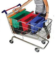 shopping trolley bag - 2015 Suppermarket Trolley Reusable Folding Shopping trolley bags in set of with pvc tube