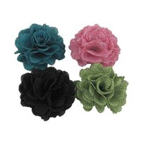 Wholesale cm New flax fabric flowers colors for your choice