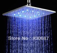 bathroom ceiling light nickel - Contemporary Concise Brushed Nickel Bathroom quot Ceiling Shower Head Top Shower LED Light