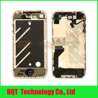 Wholesale Replacement gold middle frame housing full with flex cable assembly For iphone G Guarantee
