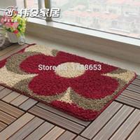 best door mats - 50 cm Best Sale New Style Nylon Floral Anti Slip Bathroom Bed Room Mat Promotion Machine Made Door Floor Carpet