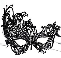 Wholesale 2016 Newest type Masquerade mask Halloween Exquisite Lace Half Face Mask For Lady Black White Option Fashion Sexy