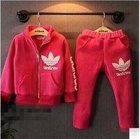 athletic clothes - Childrens Fashion Zipper Jacket And Casual Pants Pieces Set Kids Winter Athletic Clothes