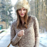 Wholesale New Style Soft Winter Women Vintage Hat Snow Cap Fur Hat Warm Winter Hat Female LENA Love With Cap Prevention Cold