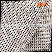 Wholesale SS6 Clear Rhinestone Trimming Iron On Transfers Diamond Mesh Strass Crystal Chain Wedding Bridal Applique cm