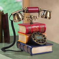 Wholesale Special creative European antique rotary phone fixed telephone landline telephone Caller dictionary