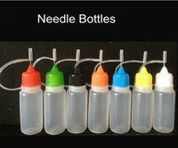 Wholesale ZJ e cig bottles PE eye driopper needle bottle ml ml ml ml ml e liquid bottles with ego long thin needle tip factory price DHL free