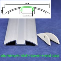 aluminum profiles for glass - DHL EMS mm led profile rigid aluminum slot m length with cover and end cap for led strip light Retail