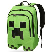 Wholesale quot Hot selling quot Minecraft Backpack Creeper Backpack School Bag quot GREAT GIFT FOR CHILD quot