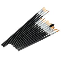 Wholesale Brand New Paint Brushes For Oil Watercolors Acrylic Art Round and Flat Pointed Set