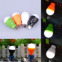 Wholesale Portable Mini W USB Bulb LED Light Lamp Room Light For Computer Laptop PC Desk Night Reading Searching Hiking
