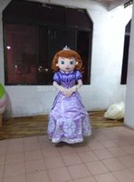 Cheap EVA,Luxury version design adult mascot costume princess Sofia adult Sofia the first mascot costume free shipping