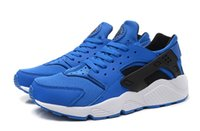 Wholesale 2015 Newest Colors Air Huarache Men Sneaker Dark Blue White Sneakers Breathable Running Shoe Huaraches Wiith The Box Size