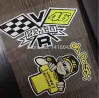 Wholesale one set valentino rossi motorbike stickers M glue waterproof solar UV proof rossi sticker M52267