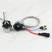 achat en gros de kits ampoule hid d2s-D2S D2C D2R D4S Kit adaptateurs métalliques HID Xenon Ballast Conversion Bulbs Aftermarket Convertisseur Convertisseur Extension Câblage Câbles Câbles
