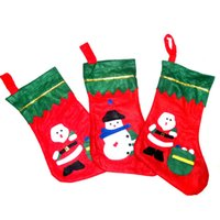 Wholesale Wholesales Christmas Ornaments Applique Christmas socks Christmas candy bag Christmas Decorations For