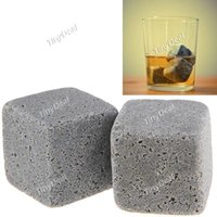 Wholesale Hot Whisky Ice Stones Drinks Cooler Cubes Beer Rocks Granite Pouch Drink Cooling Ice Melts