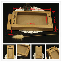 Wholesale Retail Package Universal Packaging for iphone s s c plus plus Mobile Phone Case Box Galaxy S5 S6 Cover Kraft Paper Boxes