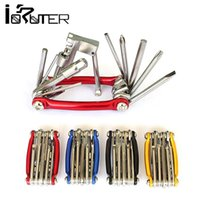 Wholesale 11 in Multifunction Bicycle Repair tools Set Kit Wrench Screwdriver Chain Cutter Colors
