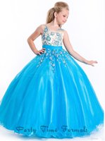 Model Pictures Girl Beads Hot sale 2015 New High Quality Lovely Real Pictures Flower Ruffle Lace Princess Ball Gown Off the Shoulder Flower girl's dresses