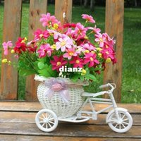 christmas container - White Tricycle Bike Design Flower Basket Storage Container Party Wedding