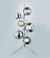 Wholesale Creative Mirror Ball Stands Modern Stylish Minimalist Mirror Ball Floor Lamp Living Room Bedroom Mall Office Floor Lamp