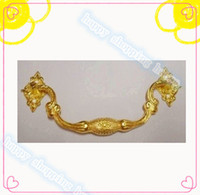 Wholesale 6pcs MM MM gold color Furniture hardware accessories Antique bar handle zinc alloy handle drawer cabinet handle MM MM