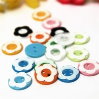 Wholesale 50Pcs Mixed Holes Resin Flower Sewing Buttons Scrapbooking x11mm For Children DIY Clothing Accessories Multicolor Optional