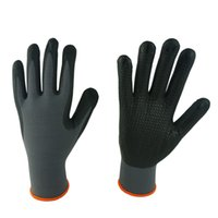 foam nitrile coated glove - 1418 Black foam nitrile coated gloves