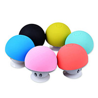 speaker new and brand - 2015 Brand New Cool Gadgets Colorful Mini Bluetooth Speaker Mushroom Speaker With Mic And Suction Cup For Mobile Phone IP6S