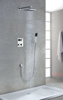 Wholesale high quality luxury digital inwall thermostatic shower set faucet mixer tap with lcd screen years guarantee