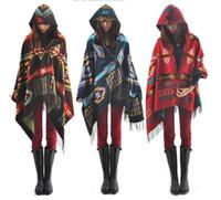fringe scarf - 2015 Fashion Women Scarf thick Hooded Cape Shawl Scarf Women Toggle Fringe Cape Coat Poncho Tassel Bohemian Shawl