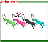 Wholesale horse shape bottle opener key ring key holder beer opener advertising gift assorted colors K012
