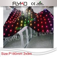 Wholesale soft flexible x3M LED Video Curtain RGB LED Lamp Cloth stage backdrop with SD Controller