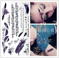 angels eyes pack - 6 pack An crown tattoo stickers Feather angel Love