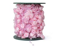 ball chain spool - mm Rose Flower Fishing Line ABS Artificial Pearls Ball Chain Garland Flowers Wedding Party Decoration Products M small spool