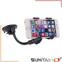 Wholesale Long Arm Universal Degree Rotating Suction Cup Car Holder Car Windshield Mobile Phone Holder For iPhone Samsung GPS PDA