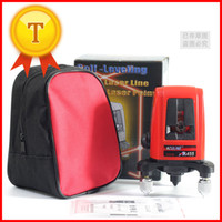 Wholesale AK455 Portable Degree Self leveling Cross Laser Level Red Line Point level laser rotary laser with level wall bracket