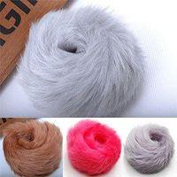 artificial hair buns - 10PX Fuzzy Furry Artificial Rabbit Fur Faux Fur Hair Band Rope Bobble Wristband Hair Roller Clip Cuff Bun maker