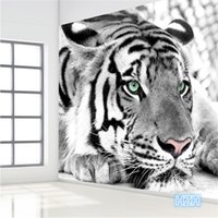 animal print wallpapers - photo wallpaper Tiger black and white animal murals entrance bedroom living room sofa TV background wall mural wall paper
