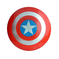 america sounds - Captain America Shield Avengers Superhero Shield with Sound LED Light Halloween Avengers Alliance Cosplay Shield Lumious DIA cm MC