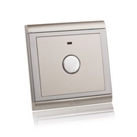 Wholesale AC V V Champagne Gold Panel Touch Switch Times Life Retardant Wall Delay Time Switch Light with LED Indicator order lt no trac