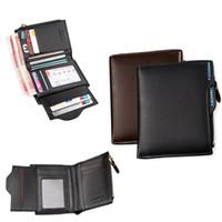 Wholesale New Arrivals Men s Fashion Short Wallets Credit Card Holder Bag Purse PU Leather Black CM EK100