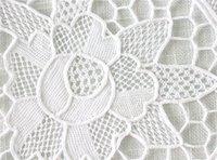 Wholesale Handmade Embroidery white Cotton home textile Venice Lace Crochet Doilies Mats Round Doily Disc Mat x14 quot W OV