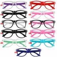 Wholesale Unisex Candy Color Cartoon Cute Eyeglasses Glasses Frame Spectacles For Children EQB552