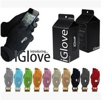 Wholesale 1000pcs CCA2334 Creative Unisex iGlove Capacitive Finger Touch Screen Gloves For Iphone5 S Ipad Smart Phone Winter With Retail Pack