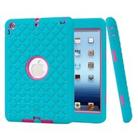 apple ipad checkered - For Ipad Mini Bling Diamond Starry Checkered Hybrid in Dual Layer Armor Heavy Duty Case Shockproof Hard PC Soft Silicone Cover